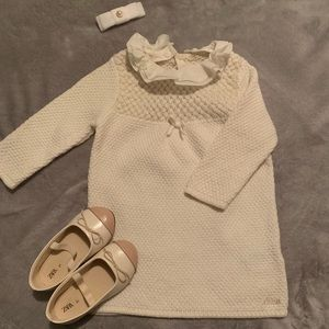 Baby girl adorable sweater dress